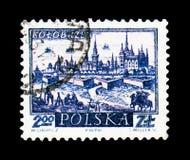 Kolobrzeg,古镇serie,大约1960年 免版税库存图片