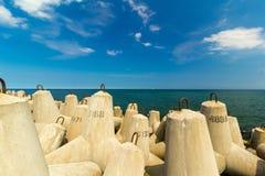 Κυματοθραύστες, η θάλασσα της Βαλτικής, Kolobrzeg Στοκ Φωτογραφίες