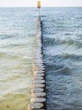 Kolobrzeg beach breakwater Stock Images