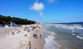 Kolobrzeg beach Royalty Free Stock Photography