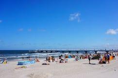 Kolobrzeg beach Royalty Free Stock Image