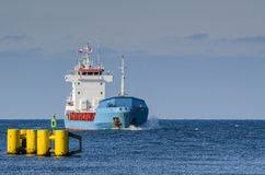 Kolobrzeg - das Schiff an der Straße Lizenzfreie Stockfotos