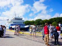 Kolobrzeg harbor Stock Image