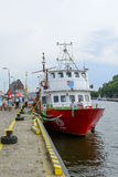 Kolobrzeg harbor Stock Photography