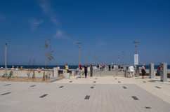 KOLOBRZEG - HOLIDAY - WALK ALONG THE PROMENADE AND THE PIER Royalty Free Stock Photography