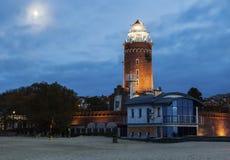 Kolobrzeg Lighthouse at evening Stock Photo