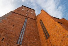 Kolobrzeg Old Cathedral Church, Poland Stock Image