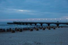 Kolobrzeg Pier Stock Images