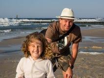 Kolobrzeg plaża Fotografia Royalty Free