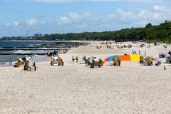 Sandy beach on the Baltic Sea Royalty Free Stock Image