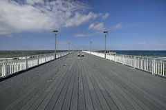 Kolobrzeg, Polish spa, view of the pier, nature Royalty Free Stock Images