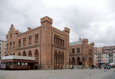 Kolobrzeg's town hall. Royalty Free Stock Images