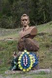Kolochava, Ukraine - April 18, 2016: Monument to the commander o Stock Photo