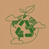 ?kologie-Tag der Erde-Konzept lizenzfreie stockfotografie