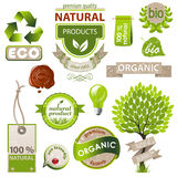 Ökologie- und Naturembleme Stockbilder