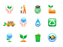 Ökologieikonen Lizenzfreie Stockbilder
