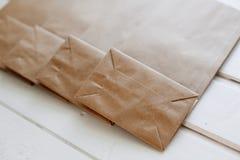 ?kologisches Handwerks-Paket stockfotografie