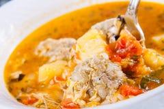 Kololik armenio tradicional de la sopa Imagen de archivo