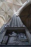 Kolom binnen Kathedraal Amiens Stock Fotografie