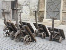 Kolom retro karretjes Stock Fotografie