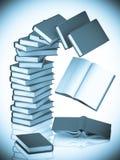 Kolom van boekenachtergrond. Stock Foto's