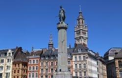 Kolom van de Godin in Lille, Frankrijk Stock Afbeeldingen