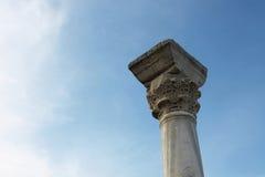 Kolom van de oude Griekse stad Stock Foto's