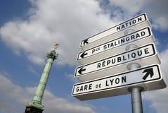 Kolom van de plaats Bastille royalty-vrije stock afbeelding