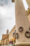 Kolom van de Ringen in Bertinoro Stock Afbeeldingen
