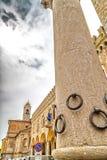 Kolom van de Ringen in Bertinoro Stock Afbeelding