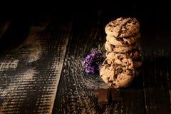 Kolom van koekjes stock foto's