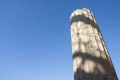Kolom van Tempel van Athena Nike in Akropolis Stock Foto
