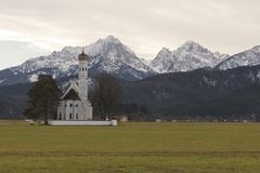 Koloman Chuch in Hohenschwangau Royalty Free Stock Images