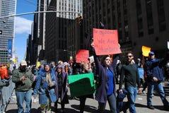 Kolombina, Szkolne strzelaniny, Marzec dla Nasz żyć, protest, NYC, NY, usa Obraz Stock
