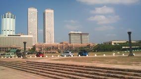 Kolombo bulwar jest kapita?em Sri Lanka, ulubiony miejsce mieszkanowie i go?cie zdjęcia royalty free