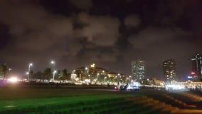 Kolombo Galle Stawia czoło noc widok Fotografia Royalty Free