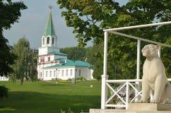Kolomenskoe公园夏天早晨莫斯科 库存照片