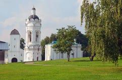 Kolomenskoe公园夏天早晨莫斯科 库存图片