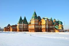 kolomenskoe莫斯科宫殿木的俄国 免版税库存图片