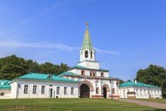Kolomenskoe kyrka i Moskva Fotografering för Bildbyråer