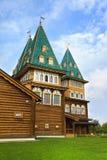 kolomenskoye莫斯科宫殿木的俄国 免版税库存照片