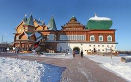 Kolomenskoye im Winter, Moskau Stockbilder