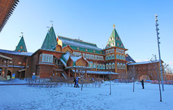 Kolomenskoye im Winter, Moskau Lizenzfreies Stockfoto