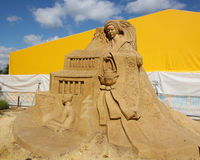"""KOLOMENSKOYE, MOSCOW, RUSSIA - AUGUST 2, 2013: """"Mystery of the world"""".  sand Sculpture Festival. Stock Photos"""