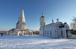 Kolomenskoye no inverno, Moscou Fotos de Stock