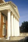 Kolommen bij de bouw bij Universiteit van Virginia door Thomas Jefferson, Charlottesville, VA wordt geïnspireerd die royalty-vrije stock foto's