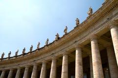 Kolommen bij het Vierkant van Heilige Peters Royalty-vrije Stock Foto's