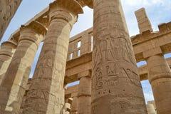Kolommen bij Tempel Karnak royalty-vrije stock foto's