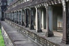 Kolommen in de Tempel van Angkor Wat Stock Foto's
