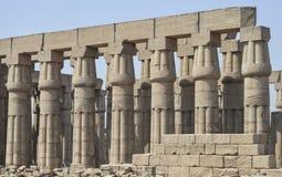 Kolommen in een oude Egyptische tempel Stock Foto